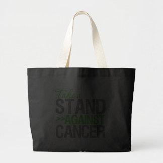 Tome un soporte contra el cáncer - Lympho Non-Hodg Bolsas Lienzo