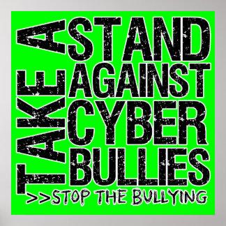 Tome un soporte contra el poster cibernético de lo