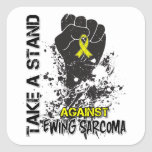 Tome un soporte contra el sarcoma de Ewing Calcomanias Cuadradas