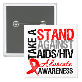 Tome un soporte contra el VIH del SIDA Pins