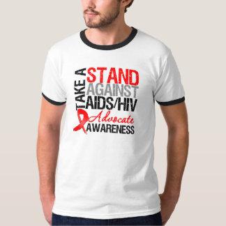 Tome un soporte contra el VIH del SIDA Playera