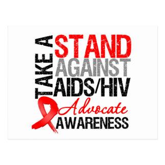 Tome un soporte contra el VIH del SIDA Postal