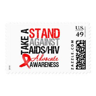 Tome un soporte contra el VIH del SIDA Sello