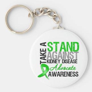 Tome un soporte contra enfermedad de riñón llaveros