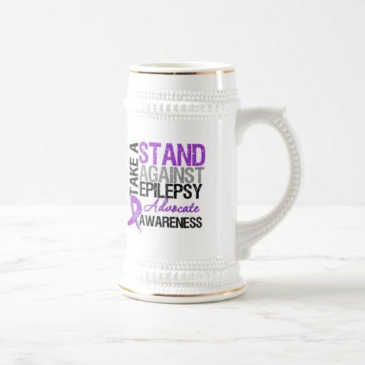 Tome un soporte contra epilepsia tazas de café