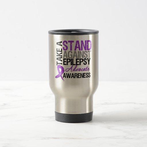 Tome un soporte contra epilepsia taza de café