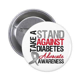Tome un soporte contra la diabetes pin redondo de 2 pulgadas