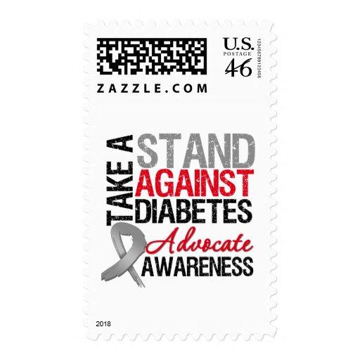 Tome un soporte contra la diabetes sello