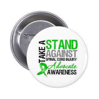 * Tome un soporte contra lesión de la médula espin Pin Redondo De 2 Pulgadas