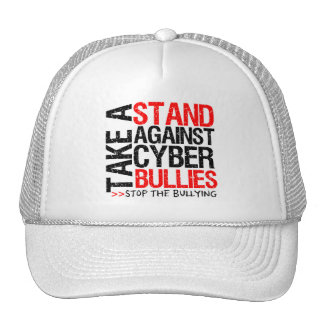 Tome un soporte contra matones cibernéticos gorros
