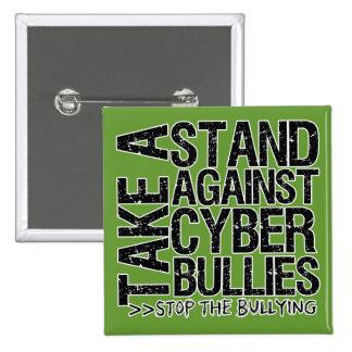 Tome un soporte contra matones cibernéticos pin cuadrada 5 cm