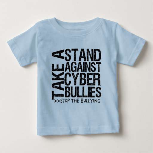 Tome un soporte contra matones cibernéticos polera