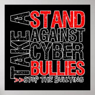 Tome un soporte contra matones cibernéticos póster