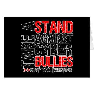 Tome un soporte contra matones cibernéticos tarjeta de felicitación