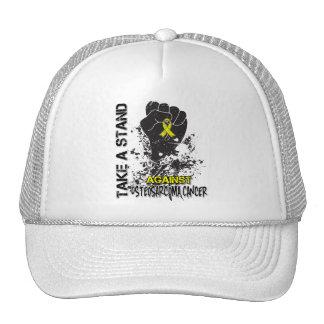 Tome un soporte contra osteosarcoma gorra