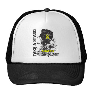 Tome un soporte contra osteosarcoma gorras