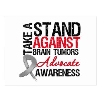 Tome un soporte contra tumores cerebrales tarjeta postal
