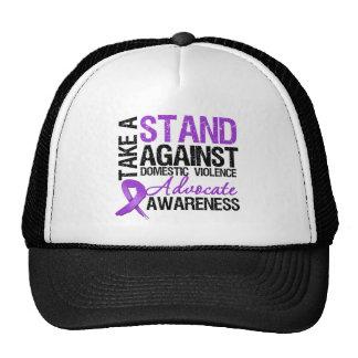 Tome un soporte contra violencia en el hogar gorra
