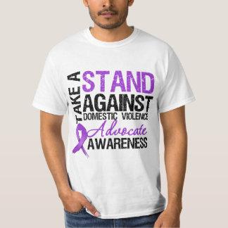 Tome un soporte contra violencia en el hogar playera