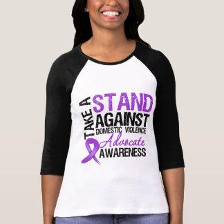 Tome un soporte contra violencia en el hogar camisetas