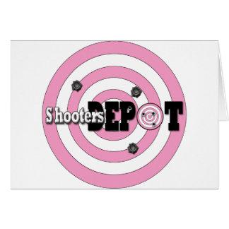 Tome un tiro en el depósito de la pistola tarjeta de felicitación