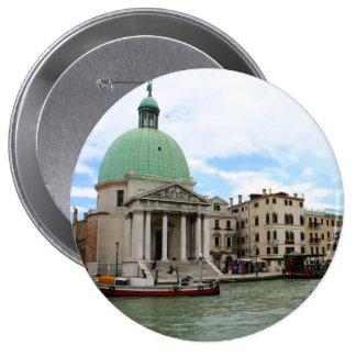 Tome un viaje abajo del Gran Canal en Venecia Pin Redondo 10 Cm
