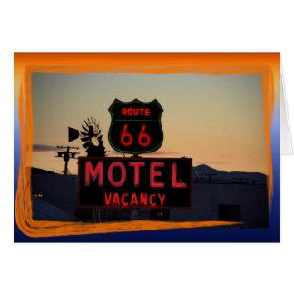 Tome un viaje en la ruta 66 tarjeta pequeña