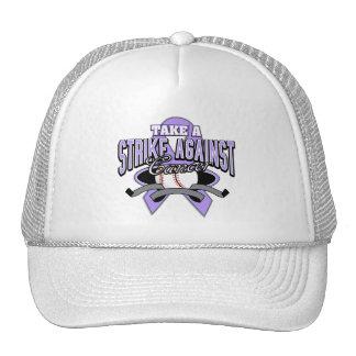 Tome una huelga contra cáncer gorras