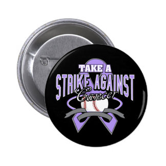 Tome una huelga contra cáncer pin redondo 5 cm