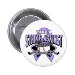 Tome una huelga contra cáncer pins