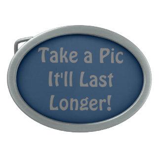 ¡Tome una imagen que durará más de largo! Hebillas Cinturon Ovales