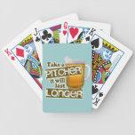 Tome una jarra que durará más de largo baraja de cartas
