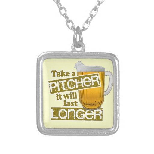 Tome una jarra que durará más de largo colgante cuadrado