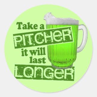 Tome una jarra que durará más de largo pegatina