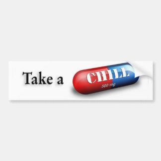 Tome una píldora desapasible pegatina para auto