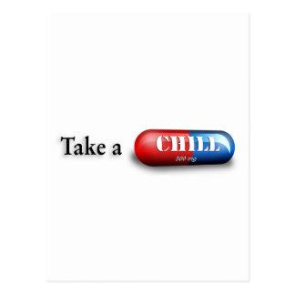 Tome una píldora desapasible postal