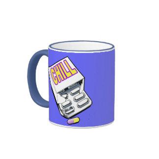Tome una píldora desapasible tazas de café