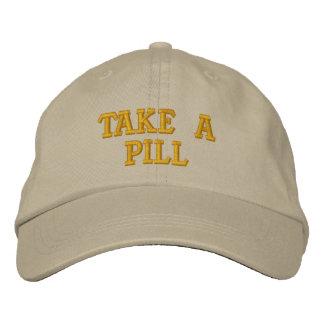 Tome una píldora gorras de beisbol bordadas