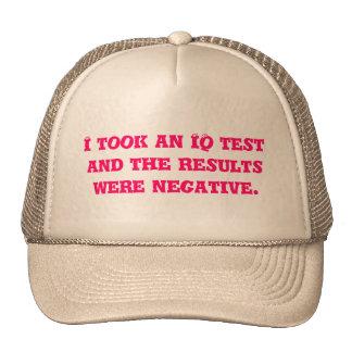 Tomé una prueba del índice de inteligencia y los r gorra