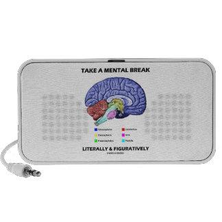 Tome una rotura mental literalmente y figurado cer notebook altavoz