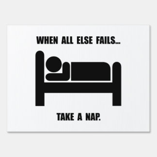 Tome una siesta letrero