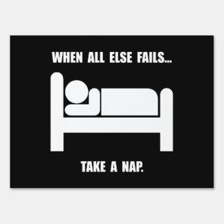 Tome una siesta señal