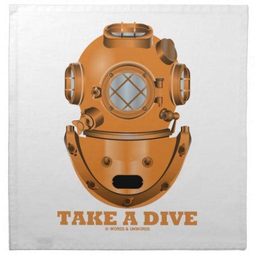 Tome una zambullida (el oceanógrafo del casco del  servilletas imprimidas