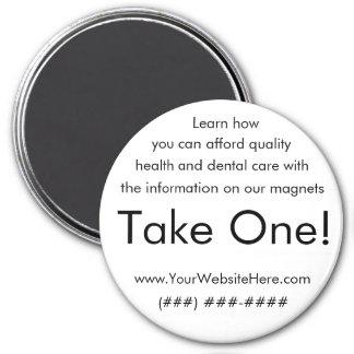 ¡Tome uno! salud e imán dental