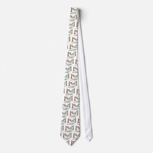 Tómele el ~ fácil que se relaja en una hamaca corbata personalizada