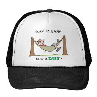 Tómele el ~ fácil que se relaja en una hamaca gorros bordados