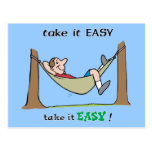 Tómele el ~ fácil que se relaja en una hamaca postales