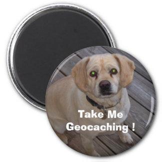 ¡Tómeme Geocaching! Imán del Swag de Geocaching