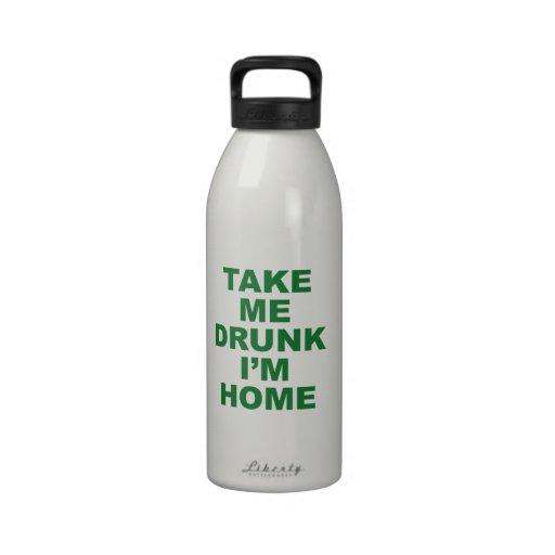 Tómememe borracho son hogar botellas de beber