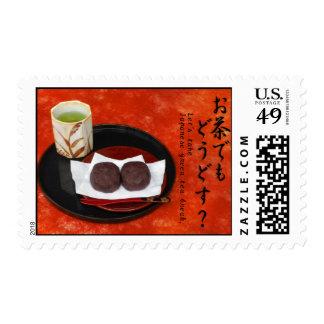 Tomemos la rotura de té verde japonesa. - Otoño Estampillas